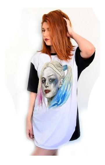 Camiseta Alerquina Daddys Lil Monster Esquadrão Suicida Top