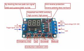 Modulo Temporizador Dc 5v-30v Ajustável Até 999 Min 400w 15a
