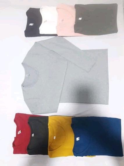 Camiseta Manga Larga De Modal Y Laycra