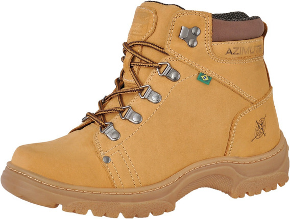 Outlet Azimute Bota Adventure Caminhada Couro Boots 910 Most