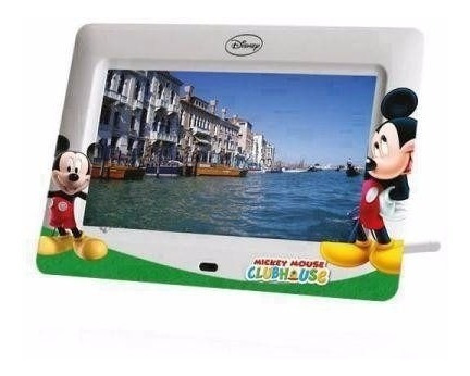 Porta Retrato 7 Polegadas Cartão Sd Usb Disney Mickey Df-072