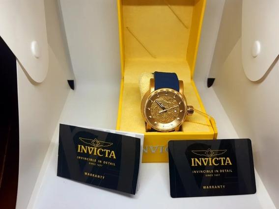 Relógio Invicta Yakuza 21627 18215 Masculino Banhado Ouro