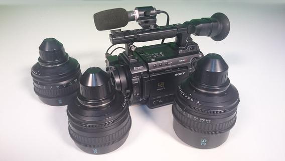 Filmadora Sony Pmw-f3k Xdcam Cmos Exmor Super 35mm + 3lentes