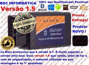 Scanner Automotivo Elm327 Obd2 Versão 1.5 Bluetooth