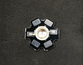 Power Led 5w 3v Uv Ultravioleta 395-400nm 5 Unid Dissipador