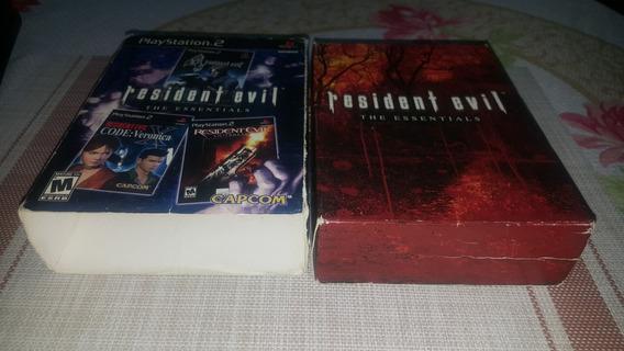 Caixa Resident Evil The Essentials Ps2