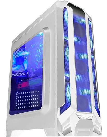 Gabinete Gamer K-mex War Robot White Cg-01f5 Com 3 Coolers