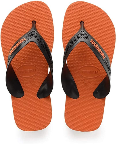 Ojotas Havaianas Niños Kids Max Steel Grey Neon Orange