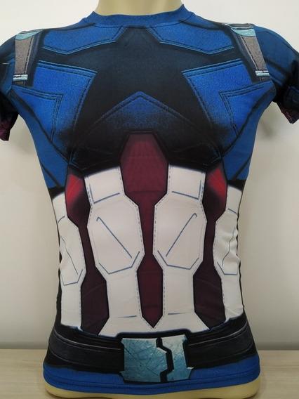 Camiseta Capitão América Manga Curta Marvel Vingadores