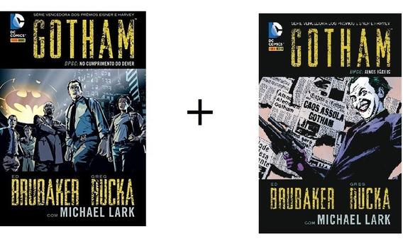 Kit Com 2 Hq - Gotham Dpgc - Volumes 1 E 2 - Capa Dura