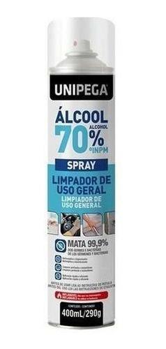Álcool 70% Spray Higienizador Antisséptico Bactericida 400ml