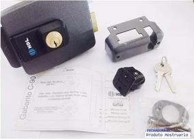 Fechadura Eletrica C90 Dupla Preta Hdl 3 Chaves (na Caixa)