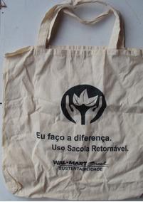 Bolsa Em Tecido Para Compras - Wal Mart Brasil- Be