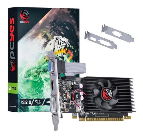 Placa De Video Nvidia Geforce Gt 710 2gb Ddr3 64 Bits Com Ki