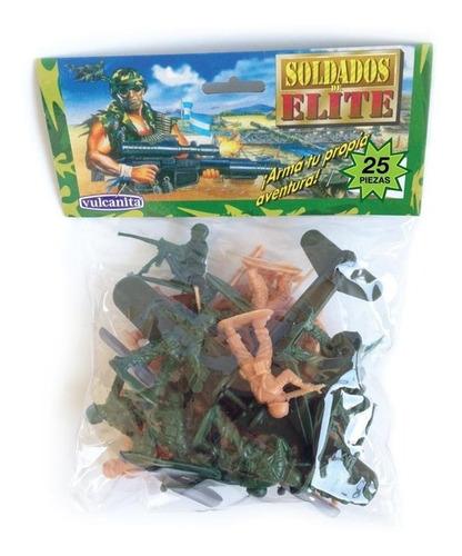 Soldaditos Vulcanita X25 - Soldados Plásticos