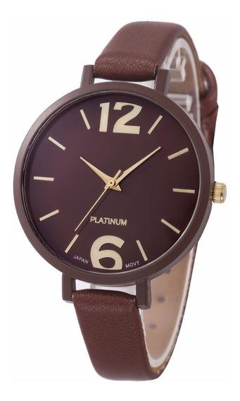 Relógio Feminino Geneva Platinum Com Caixa De Brinde