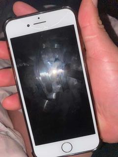 iPhone 7 128gb Branco Com Nota Fiscal Caixa Tela Trincada