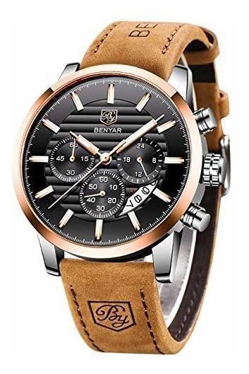 Reloj Benyar Waterproof Watches Business And Sport