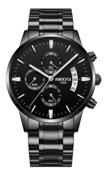 Relógio Masculino Nibosi Original 100% Funcional Anti-risco