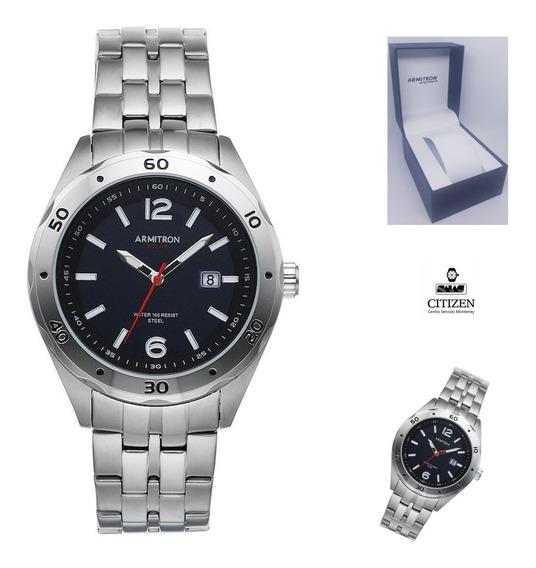 Reloj Armitron 205253 Hombre Acero Inoxidable Wr50 Full