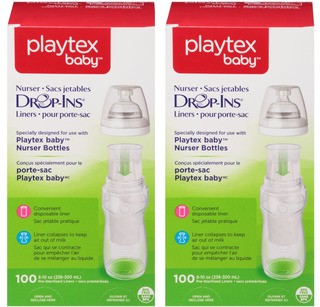 Playtex 100 unidades Botella Liners Drop-ins
