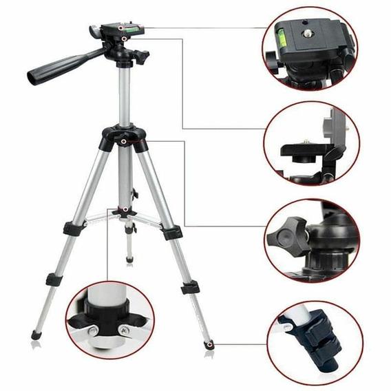 Tripé Telescópio Universal Câmera Celular Alumínio + Frete