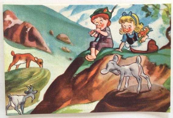 Antigua Tarjeta Postal Infantil N° 1 Codex Año 1952