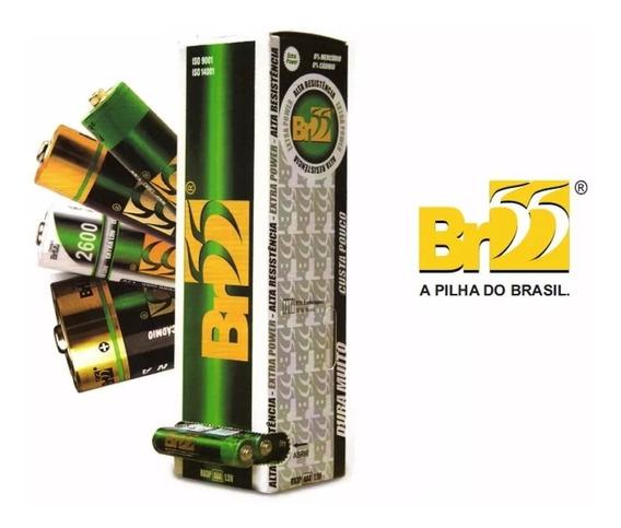 Pilha Aaa Br-55 Caixa Com 60 Pilhas Palito