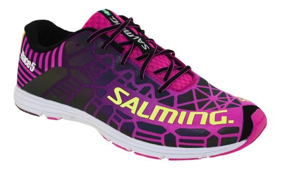 Zapatillas Running Correr Salming Race 5 Reflectivo Mujer