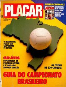 Revista Digitalizada Placar Guia Brasileiro 1990 + 2 Álbuns