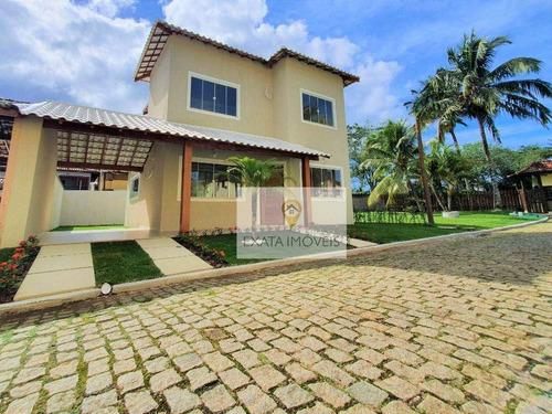 Imagem 1 de 25 de Casa Duplex 3 Quartos Em Condomínio Fechado, Praia De Costazul/ Rio Das Ostras! - Ca1292