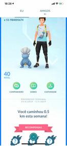 Pokemon Go 40 Todos Os Lendários E Mais De 100 Pokemons 100%