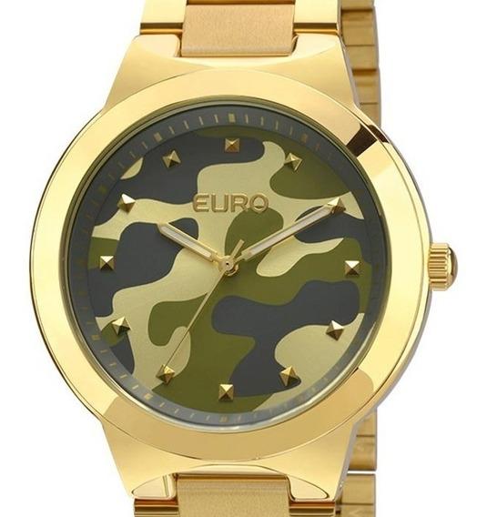Relógio Feminino Euro Dourado Militar - Eu2035ybg/4c
