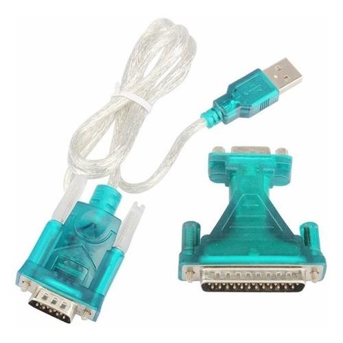 Cable Adaptador Usb A Serial Rs232 9 Pin 25 Pin