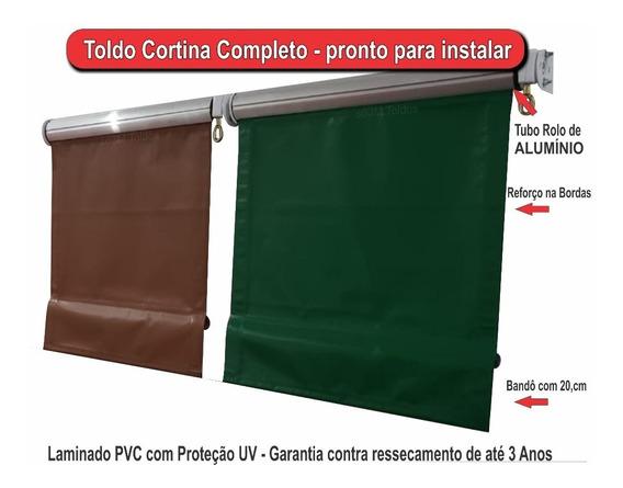 Toldo Retrátil Completo Tubo Rolo Alumínio 1m² = R$ 95,00