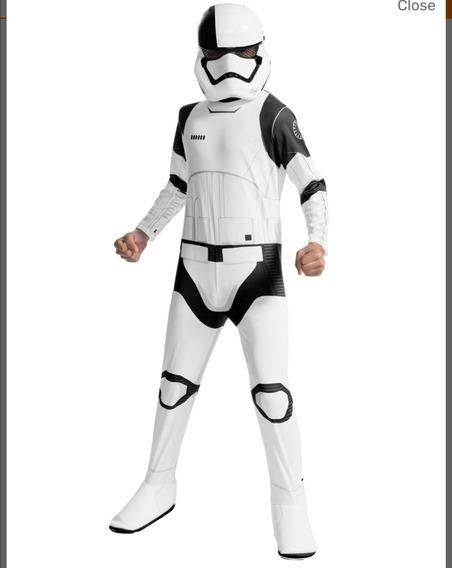 Disfraz De Star Wars Trooper Importado Con Máscara Y Guantes