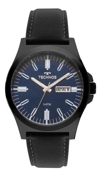 Relógio Technos Masculino Pulseira Couro Classic 2305ba/2a