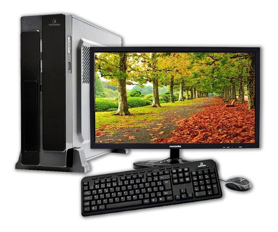 Computador + Monitor 18.5 Concordia - Sff Core I7 8700 8gb