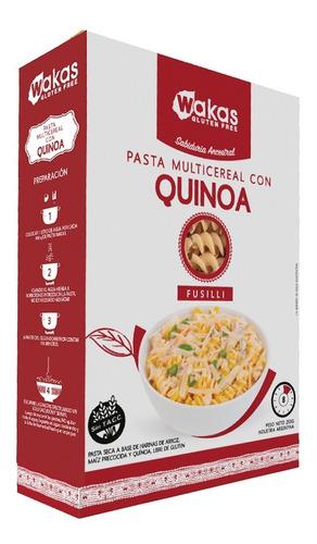 Pasta Multicereal Con Quinoa Fusilli Wakas Sin Tacc 250 Gr