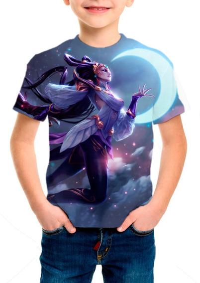 Camiseta Infantil League Of Legends Diana Deusa Lunar