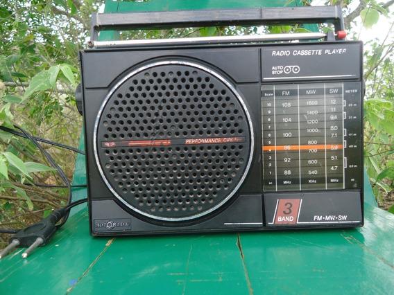 Radio Antigo Motoradio De 3 Faixas Funcionando Perfeito