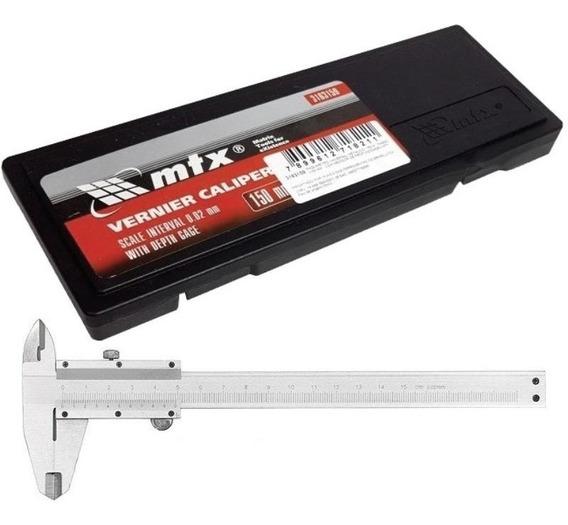 Paquímetro De Aço 6 Pol (150mm) Mtx