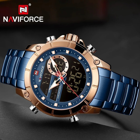 Relógio Naviforce Masculino 9163 Original