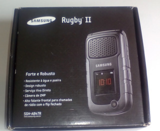 Celular Samsung Sgh A847r Rugby 2 - Flip - Caixa Acessorios