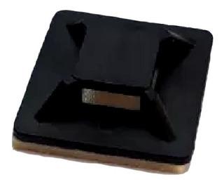 50 Base Porta Cables Adheribles De Cinchos Color Negro