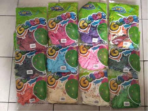 Globos Unicolor Surtido Nro11 Marca Payaso Originales Paqx50
