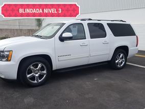Chevrolet Suburban 4x4 Blindada 2012 Nivel 3 Plus