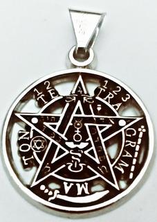 Tetragramaton Baño En Plata, Base Niquel, Potente Talisman