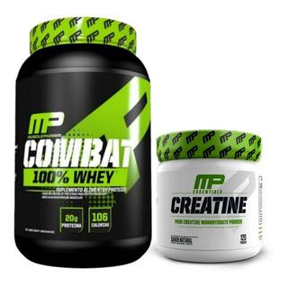 Kit 100% Whey Mp Combat Musclepharm + Creatina 300g Original