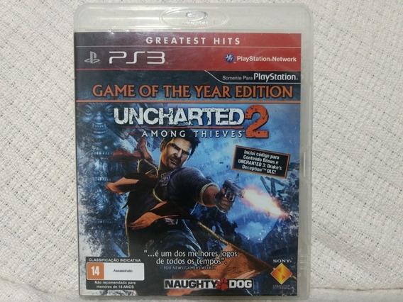 Jogo Ps3 Uncharted 2 Among Thieves Mídia Física